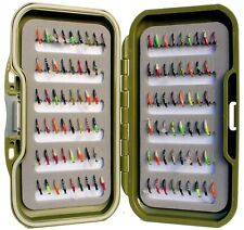 Waterproof Fly Box + Mixed Assorted Epoxy Buzzers Trout Flies for Fly Fishing