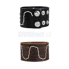Punk Rock Wide Brown/Black PU Leather Bracelet Cuff Wristband Men Women Jewelry