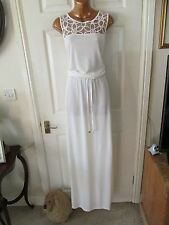 Gorgeous BNWT white floral summer evening boho Next maxi dress size 16