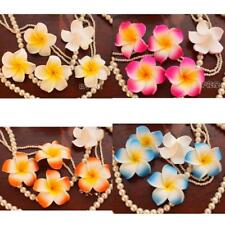 100pcs Wedding Frangipani Foam Floating Plumeria Flower Heads Craft Hair Clips