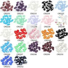 10pcs 12mm Crystal Teardrop Beads Faceted Top Drilled DIY Jewelry Pendants BW