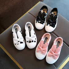 New  Kids Girls Sports Casual Shoes Loafers Fashion Toddler Polka Dot Shoes