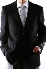 Mens Two Button Lamb Wool Cashmere Black Sport Coat, J40912C-40931-BLK