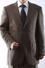 Mens Two Button Lamb Wool Brown Sport Coat, J49012C_49039_BRO