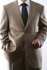 Mens Two Button Wool Cashmere Toast Color Sport Coat, J49012C_49058_TOA