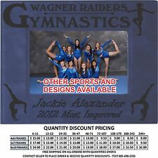 Personalized Gymnastics Picture Frames Custom Laser Engraved Sports Gifts School