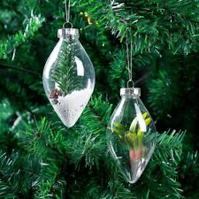 Pointed Ends Shape Transparent Christmas Ball Ornament Tree Decoration PM