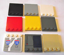 LEGO 4x4 Tile plates packs of 3 with studs part 6179 choose your colour!