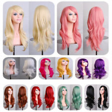 Fashion Women Full Wig Long Wavy Curly Wigs Heat Resistant Halloween Cosplay