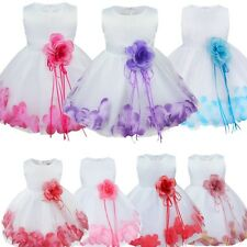 Infant Baby Girl Baptism Christening Dress Flower Girls Wedding Party Tutu Dress