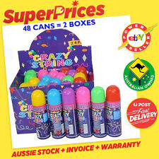 OUT OF STOCK◉WHOLESALE BULK BOX OF 24/48◉PARTY◉SILLY STRING◉6 ASSORTED COLOURS◉