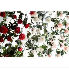 6ft Silk Rose for Wedding Home Decoration Artificial Faux Flowers 3 Colors