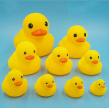 Bathing Baby Girls Boys Cute Yellow Duck Squeaky Rubber Kids Toys