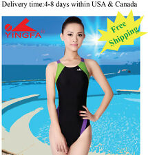 Yingfa 976-1 one piece racing and training swimsuit for women Free shipping