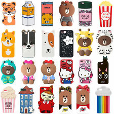 3D Cute Cartoon Disney Soft Silicone Gel Case Cover Skin For iPhone 5/SE/6/7Plus