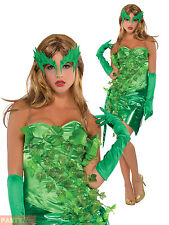 Ladies Toxic Ivy Costume Womens Villain Fancy Dress Adult Halloween Outfit