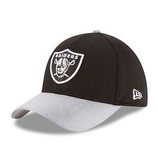 OAKLAND RAIDERS NFL NEW ERA 39THIRTY OFFICIAL SIDELINE TEAM COLORS FLEX HAT NWT