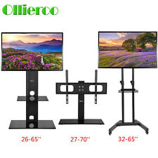 """TV Cart Stand Floor Tabletop TV Stand Base w/ Mount and Shelf Fit for 26-65"""" TV"""