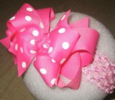 Pink Dots Boutique Hair Bows Girls Big Double Layered Custom Birthday Party Bow