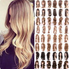 Real Thick Ombre Wig Natural Long Straight Curly Wave Synthetic Hair Full Wigs