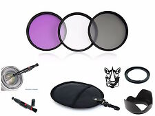 NY51 58mm Adapter Lens Hood Pen UV CPL FLD Filter Set Bundle For Canon FA-DC58A