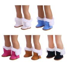 """Doll Furry Trim Boots Shoes for 18"""" American Girl Journey Dolls Accessories"""