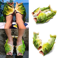 Unisex Fish Shower Slippers Sandals Flip Flops Men Women Soft Casual Beach Shoes