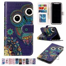 For iPphone X flip wallet phone case protective skin card holder stand cartoon