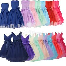 Girls Party Flower Formal Wedding Bridesmaid Pageant Prom Christening Dress 4-14