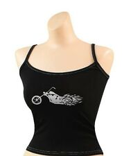 BIKER Booty Camp Camisole Tank Top Spaghetti Strap Cami Motorcycle Chopper Top
