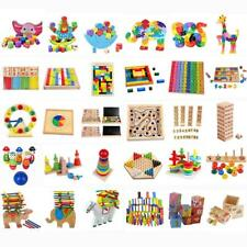 Various Wooden Puzzle Game Early Learning Baby Kids Preschool Educational Toys