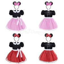 Baby Girl Princess Party Gown Minnie Mouse Tutu Dress Toddler Halloween Costume