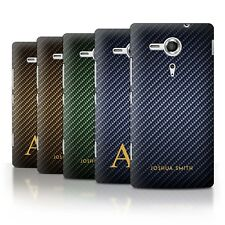 Personalised Carbon Fibre Effect Phone Case for Sony Xperia SP/C5303/Cover