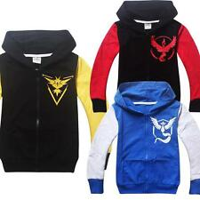 New Pokemon Go Kids Baby Boys Girls Long Sleeve Hoodies Casual Tops Clothes