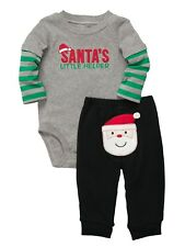 Carters Infant Boys Santa Claus Christmas Holiday Outfit Bodysuit & Pants Set