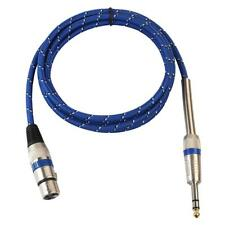 "3Pin XLR Female to 1/4"" 6.35mm Mono Male Plug Audio Cable Microphone Adapter"