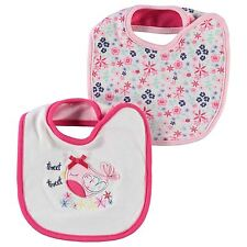 Crafted 2 Pack Bibs Infant baby Pink/White Baby Dribble Eating Bibs