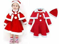 Girls Kids Baby Infant Christmas Costume Halloween Cosplay Dress Outfits Hat New