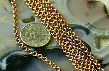 Bronze Sterling Silver Plated Solid Red Brass Double Link Chain 2.5mm c44 PICK
