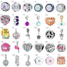 European 2017 New Silver Charms Bead Pendant Fit 925 Sterling Bracelet Chain