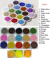 2/3/4mm Silver Lined Glass Seed Bead Colorful Multi Color Loose Round Tiny 11 8