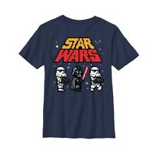 Star Wars Pixel Darth Vader and Stormtroopers Boys Graphic T Shirt