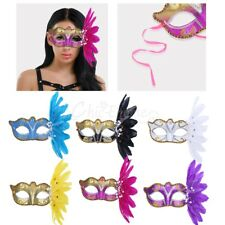 Glitter Feather Eye Mask Face Mask Masquerade Party Ball Prom  Halloween Costume