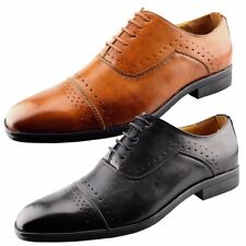 Mens Designer Smart Lace Up Casual Brogues Formal Wedding Dress Shoes Size