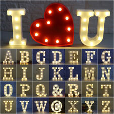 Cute 26 Wooden Letters Alphabet Wall Hanging LED Light Home Wedding Party Decor
