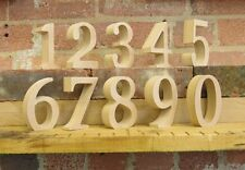 """Free standing wooden table numbers for weddings, events, parties 30cm (12"""") tall"""