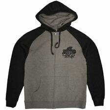 Famous Stars and Straps Prayed Zip up Hoodie Heather Grey