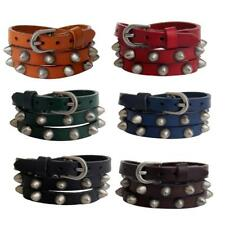 Multi-layer Spike Rivet Stud Cuff PU Leather Punk Gothic Rock Belt Bracelet