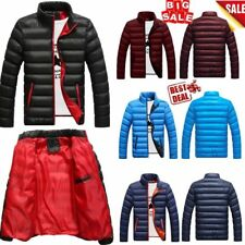 Mens Winter Warm Cotton Padded Down Coat Thick Casual Outerwear Parka Jacket RK