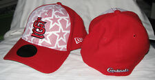 ST LOUIS CARDINALS MLB JULY 4TH ON FIELD NEW ERA 39THIRTY RED/WHITE FLEX HAT NWT